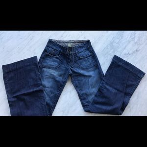 Lucky low rise flared jeans